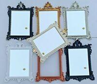 Wandspiegel barock Silber Schwarz Weiß Gold 36x24cm Spiegel Antik Shabby Prunk