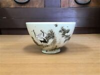 Y1075 CHAWAN Kyo-ware tea ceremony Japanese pottery antique bowl Japan