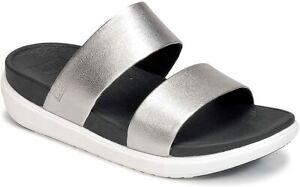 FitFlop Damen Loosh Folie Sandalen, Silber, EU 39/UK 6