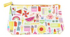 Clinique Cosmetic Makeup Zipper Bag Clutch Summer Fun Brand NEW Standard Size