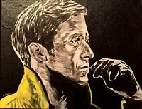 Ryan Gosling Drive hand painted portrait canvas signed by the artist car race