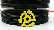 "100 Yellow Center Adapters Universal Plastic Insert for 45rpm 7"" 45 Vinyl Record"