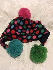 Gap polka dot fleece hat-girls s/m