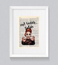 RuPaul BIANCA Del Rio Not Today Satan Vintage Dictionary Book Print Wall Art