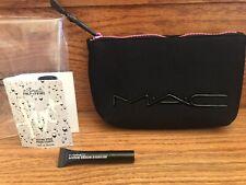 NEW Authentic MAC Neoprene Makeup Bag in Black Zipper Factory Sealed  + 2 Bonus