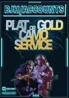[PS4/XBOX ONE/PC] Call of Duty: Modern Warfare Platinum/Gold Camo Service