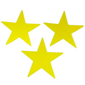 Star Foam Craft Shapes, 48/pack, Yellow, for Craft Projects.