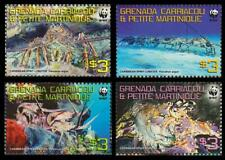 Grenada Carriacou WWF Caribbean Spiny Lobster 4v MNH SG#4000-4003 MI#4500-4503