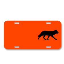 Fox Mammal Silhouette On License Plate Car Front Add Names