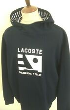 LACOSTE HOODED SWEAT SHIRT TOP SIZE XL BLUE