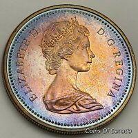 1972 Canada Silver Dollar UNCIRCULATED Coin RAINBOW TONED Voyager #coinsofcanada