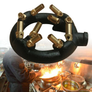 Natural Gas Jet Burner For Chinese Wok Range Stir Fry Cast Iron Body Round Nozzl