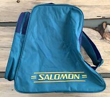 Vtg Salomon Boot Bag W/ Adjustable Strap 80's Teal Purple Yellow Ski Snowboard