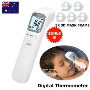 Digital Infrared Thermometer Non-contact Forehead LCD Temperature Gun Mask Frame