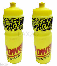 2 x POWERBAR WATER BOTTLE FOR CYCLING SPORTS DRINKS BPA FREE