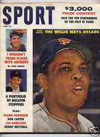 1961 SPORT magazine, baseball Willie Mays, San Francisco Giants, Yogi Berra ~VG