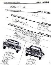 1968 1969 CHEVROLET CHEVELLE MALIBU PARTS FRAME MOTOR'S CRASH ILLUSTRATIONS M2OR