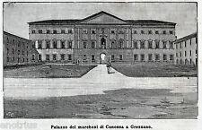 MOZZECANE: GREZZANO: Palazzo dei Marchesi di Canossa. Verona. Stampa Antica.1895
