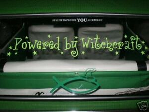 2 X POWERED BY WITCHCRAFT LOGOS GRAPHICS STICKERS CAR