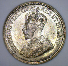 1920 George Silver 5 Cent Small Nickle Canadian Canada Coin MS2 Five Cents