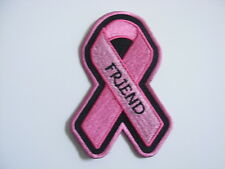 PINK RIBBON BREAST CANCER AWARENESS PATCH--FRIEND