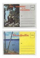2 PA Souvenir Folder Pocono Mountains Pennsylvania Lake Harmony Split Rock Lodge