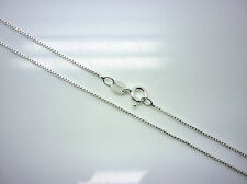"STERLING SILVER 16"" BOX CHAIN  925 ITALIAN SILVER CHAIN (length) 16 inches"