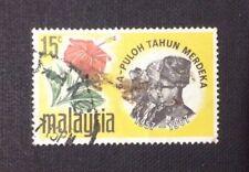 Malaysia  Sa-Puloh Tahun Merdeka 1967  15cents  Used