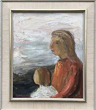 Einar emland 1916-1994 - Madre con bambino-SVERIGE France USA-Modern Painting