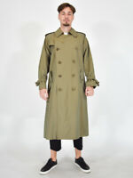 BURBERRYS' Trench Elegante Cappotto Verde Jacket taglia 50 Regular L Uomo Coat