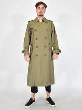 BURBERRYS' Trench Elegante Cappotto Verde Jacket taglia 50 Regular L Uomo Coat
