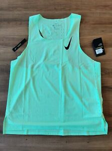 Nike Aeroswift Pro Elite 2020 Running Vest Singlet Green Large