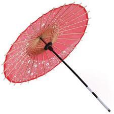 Kimono japonés wagasa Papel Paraguas Rojo Sakura Samurai para Juegos con disfraces Japón