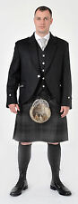 NUOVO Grigio HIGHLANDER 8 Yard Scottish Highland COMPLETO ABITO KILT pacchetto OFFERTA