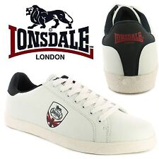 Lonsdale London Mens Lowton Trainers Union Jack White Casual Shoes