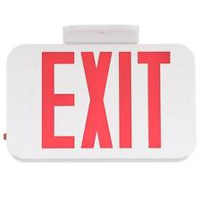 Progress Lighting White Led Exit Sign With Red Letters, Pe008-30, 2-Pack