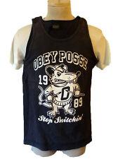 OBEY posse tank top shirt 1989 small rat possum fink sleeveless billard pool