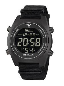 KHS Tactical Watches Inceptor Black Steel Digital Einsatzuhr KHS.INCBSD.NB Nato