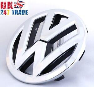 VW PASSAT B7 TOURAN CADDY 135mm GRILLE EMBLEM CHROME BADGE 1T0853601E