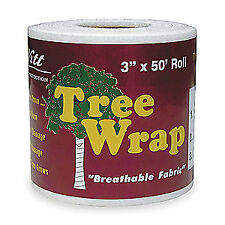 DEWITT Polypropylene Tree Wrap,3 In x 50 Ft, G-TW3W, White