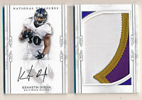KENNETH DIXON 2016 National Treasures 3 Color Patch AUTO Booklet /99 - Ravens RC