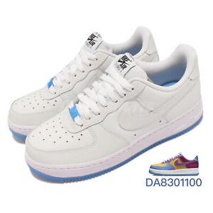 Nike Wmns Air Force 1 07 LX UV Reactive White Blue Women Casual Shoes DA8301-100