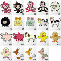 #1730R Farm Zoo Animal Cartoon Kids Children Embroidered Sew Iron On Patch Craft