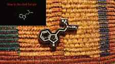DMT The Spirit Molecule Glow in the dark Molecule Festival Lapel Hat Pin