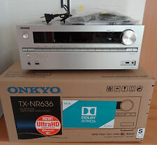 Onkyo TX-NR 636 (S) 7.2 mit Atmos, 4K, Bluetooth, Wifi, Silber, Top Zustand, OVP