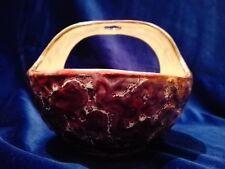 Ciotola in ceramica con manico forato - Viola bordo oro - VINTAGE