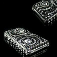 Apple iPhone 4S & 4 Strass Luxus Bling Case Tasche Hülle Mit Folie Black Wave