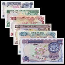 Singapore SET 6 PCS, 1 5 10 25 50 100 DOLLARS, flower, A-UNC