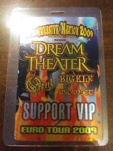 Dream Theater 2009 Laminate Backstage Pass Progressive Nation Europe Tour Opeth