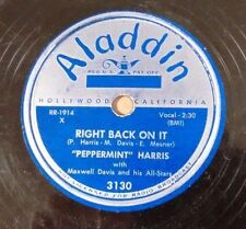 PEPPERMINT HARIS on ALADDIN 3130 - Maggie's Boogie R&B Blues Boogie Woogie 78 V+